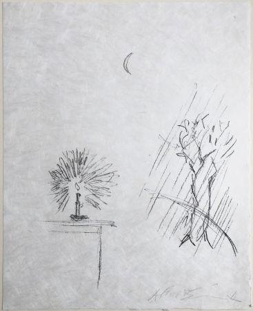 Lithograph Giacometti - La Bougie. Lithographie Originale Signée