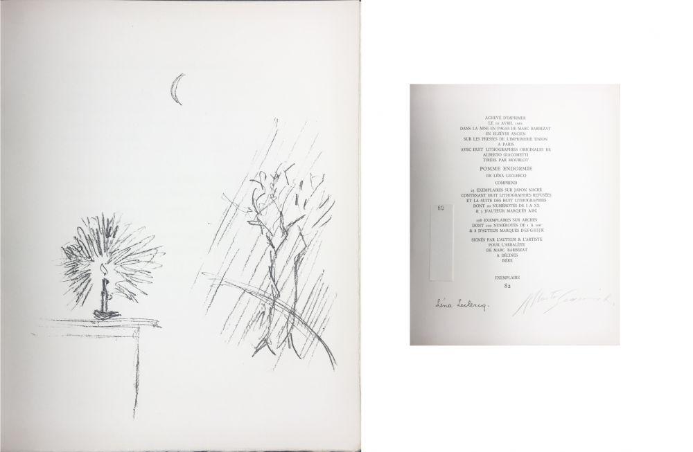 Lithograph Giacometti - LA BOUGIE (The candle). 1961. Lithographie originale