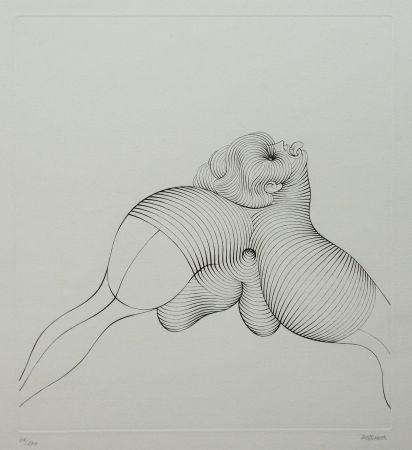 Engraving Bellmer - La Céphalopode