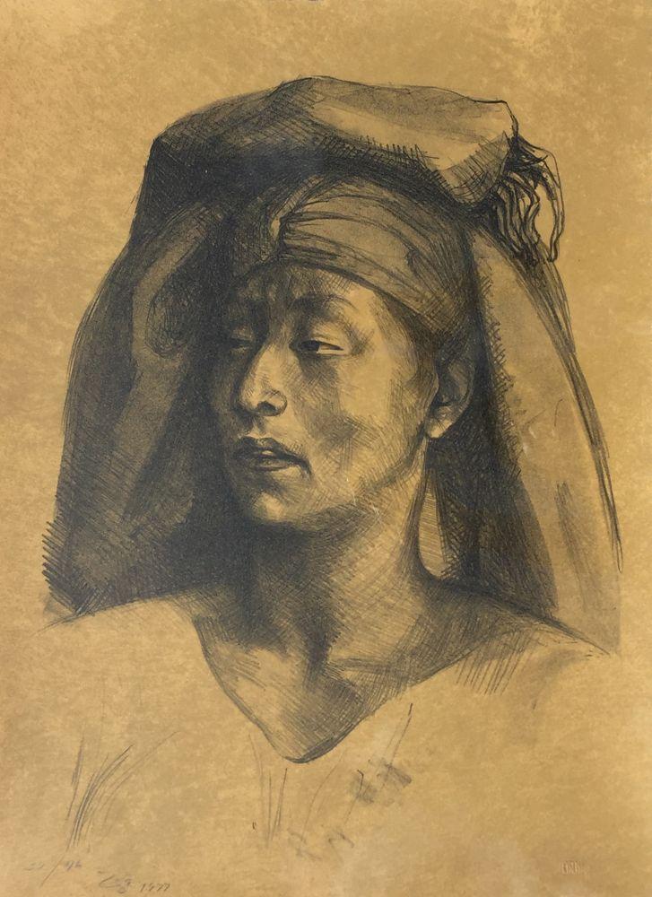 Lithograph Zuniga - La Calera
