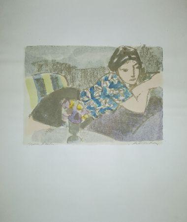Lithograph Salvadori - La camicetta blu
