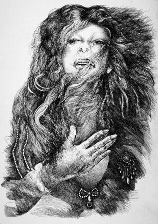 Engraving Carrera - La cantante