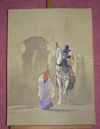 Lithograph Ziani -  LA CARAVANE I
