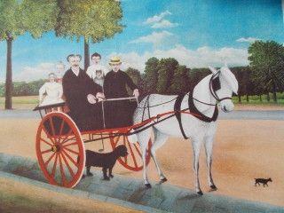 Lithograph Rousseau - La carriole du pére Junier