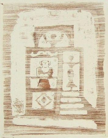 Etching Campigli - La casa degli idoli