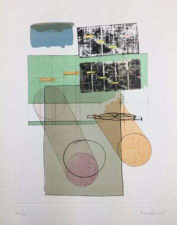 Lithograph Bonalumi - La casa del vento