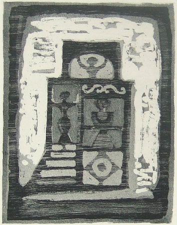 Etching Campigli - La casa delle donne
