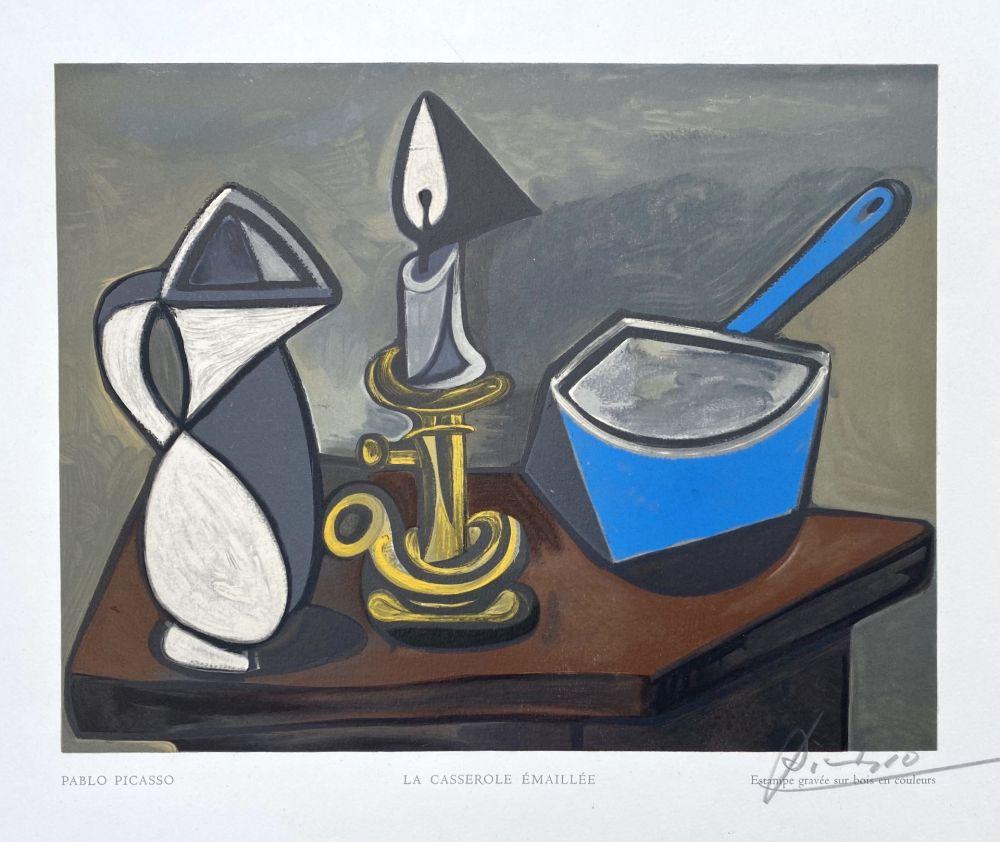 Woodcut Picasso - La casserole émaillée