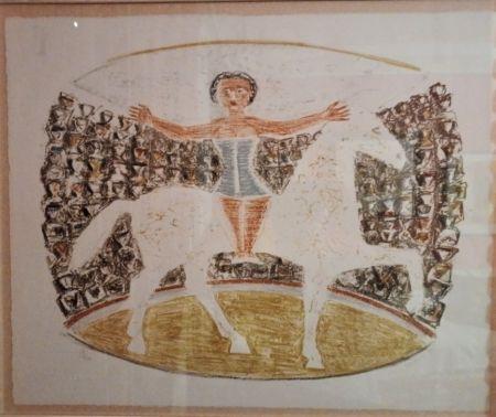 Lithograph Campigli - La Cavallerizza