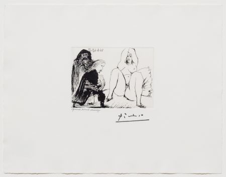 Aquatint Picasso - La Celestine