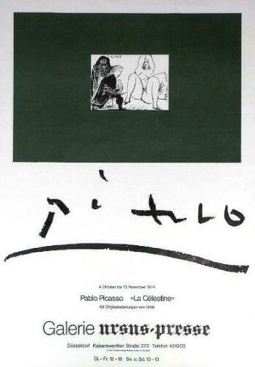 Poster Picasso - '' La Celestine ''  Galerie Ursus Presse