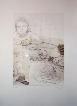 Engraving López Garcia - La cena