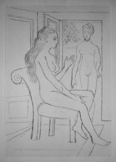 Etching Delvaux - La chaise