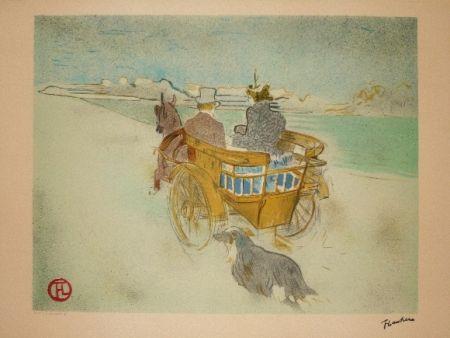 Lithograph Toulouse-Lautrec - La charette Anglaise