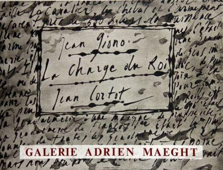 Lithograph Cortot - La Charge du Roi