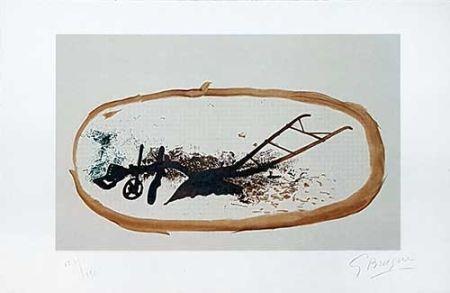 Lithograph Braque - La charrue