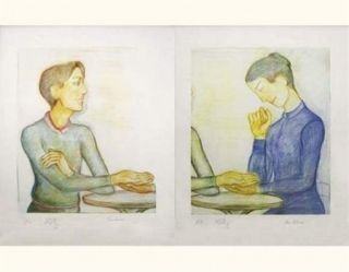 Lithograph Klossowski - La chiromancienne