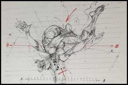 Screenprint Velickovic - La chute