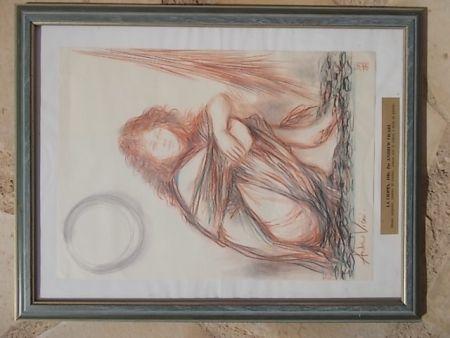 Lithograph Vicari - La Cioppa
