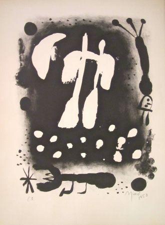Lithograph Miró - La clé des champs