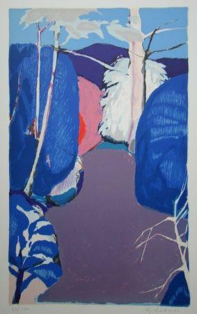 Lithograph Godard - La clairière