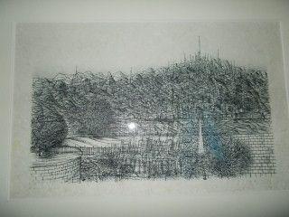 Lithograph Carzou - La colline