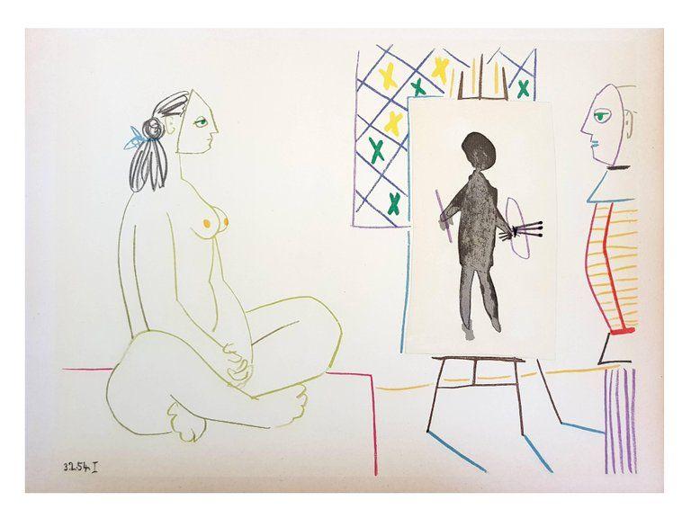Lithograph Picasso (After) - La Comédie Humaine