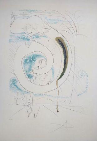 Etching Dali - La Conquête du Cosmos