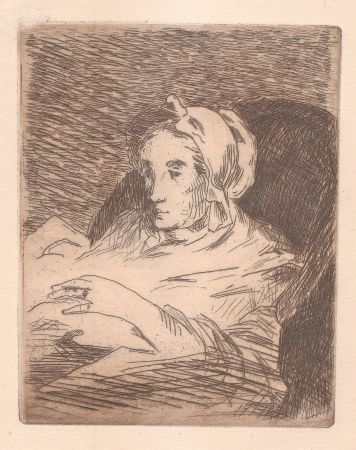 Etching And Aquatint Manet - La convalescente