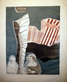 Etching And Aquatint Runcan - La coquette