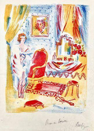 Lithograph Dufy - La Coquette