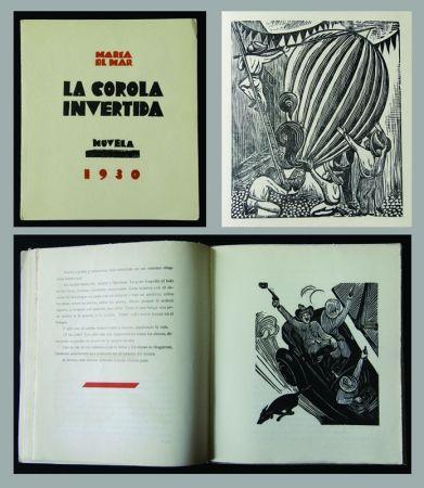 Woodcut Mendez - La Corola Invertida - novella by Maria Del Mar