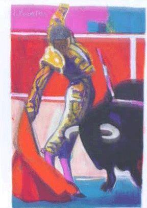 Lithograph Briata - La corrida