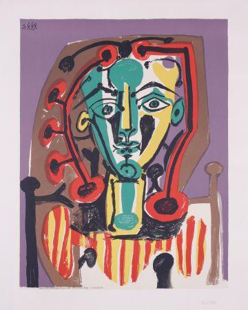 Lithograph Picasso - La corsage Raye