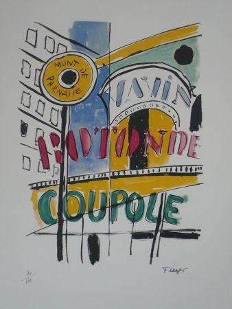 Lithograph Leger - La Coupole
