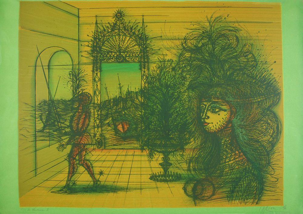 Lithograph Carzou - La Courtisane II