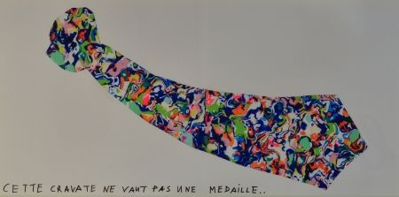 Lithograph Baj - La Cravate