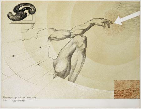 Lithograph Subirachs - La creació de l'home