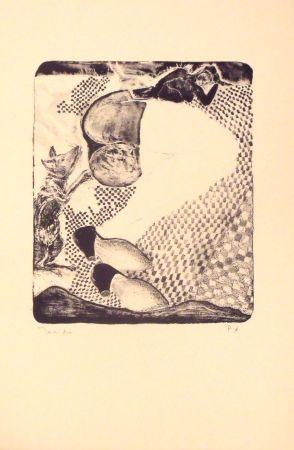 Lithograph Toledo - La Dama y el raton
