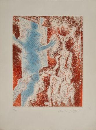 Etching And Aquatint Masson - La Dame au labyrinthe