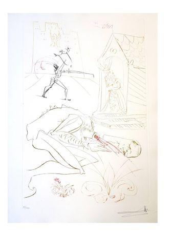 Lithograph Dali - La Dame de Malehaut