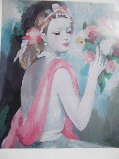 Poster Laurencin - La dame et le bouquet