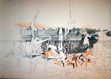 Lithograph Cueco - La danse