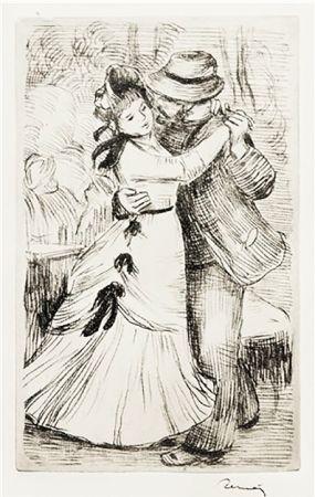 Etching Renoir - LA DANSE À LA CAMPAGNE (1890)