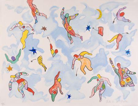 Lithograph De Saint Phalle - La danse éclatée