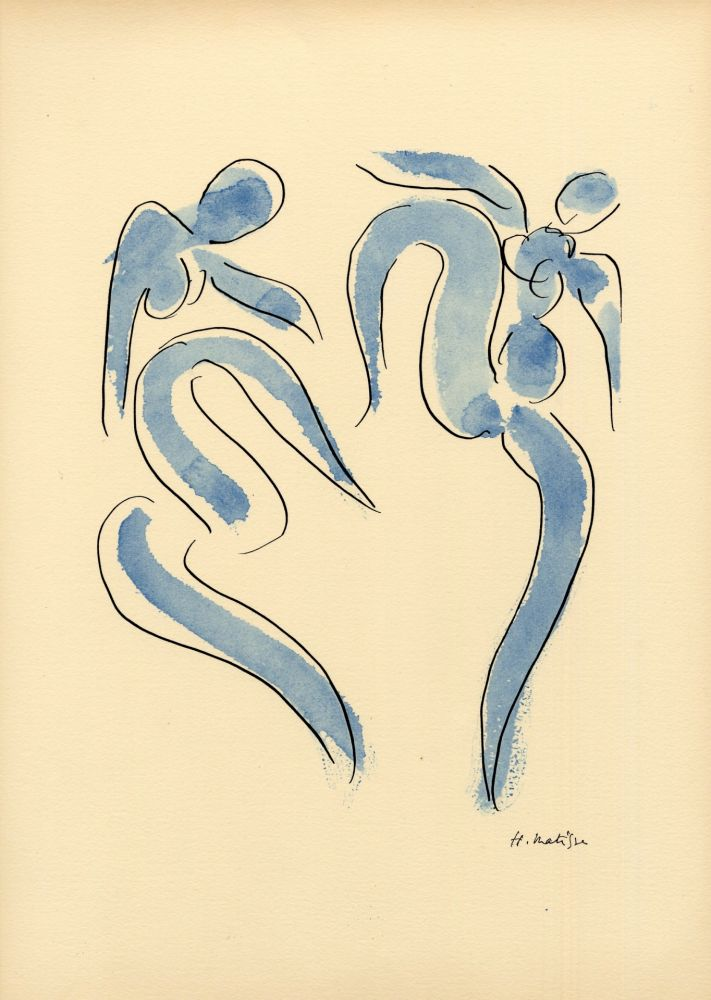 Pochoir Matisse - LA DANSE (1931) de l'album : Douze Contemporains par J. Lassaigne (1959)