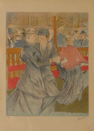 Lithograph Toulouse-Lautrec - La danse au Moulin Rouge