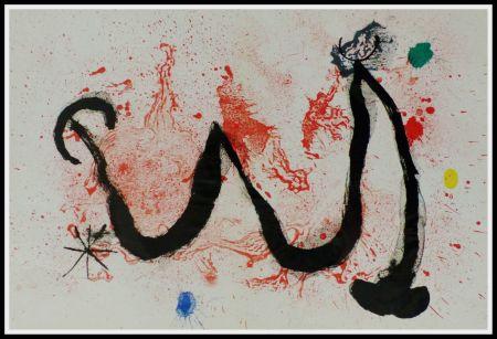 Lithograph Miró (After) - LA DANSE DU FEU