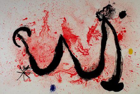 Lithograph Miró - La danse du feu