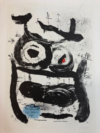 Lithograph Miró - La Emperatriz